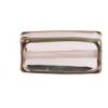 Glass Lamp Bead Rectangle 18x10x6mm Rose/Bronze